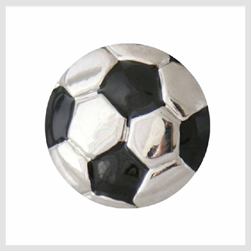Snap Charm Soccer Ball 20mm - Beads and Dangles