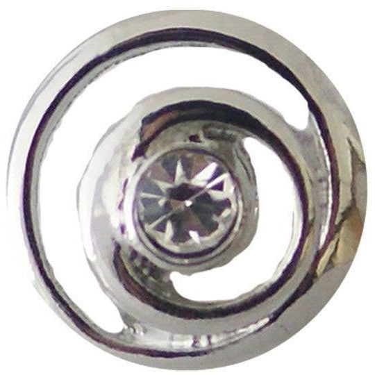"Chunk Snap Charm Mini Clear Crystal Center 12mm, 1/2"" Diameter - Beads and Dangles"