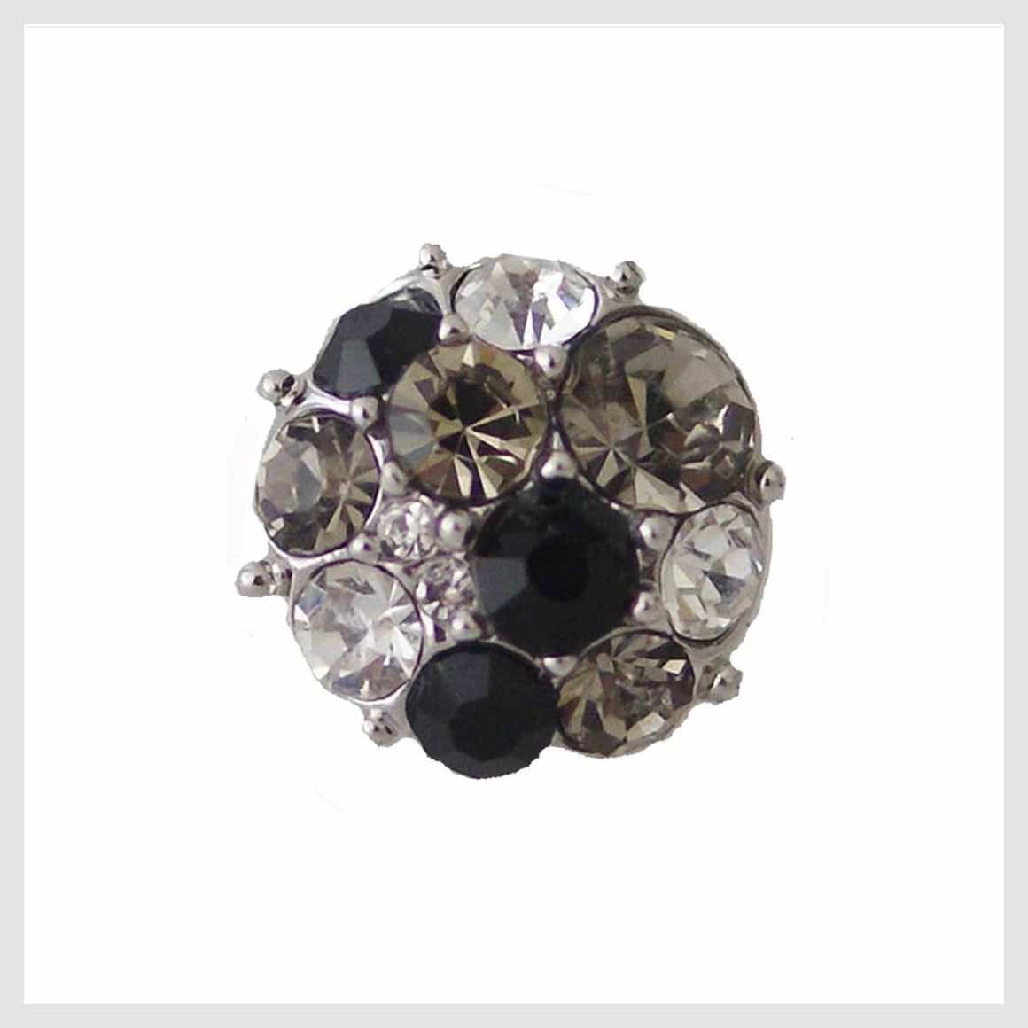 Clear and Black Stones 12mm Mini - Beads and Dangles
