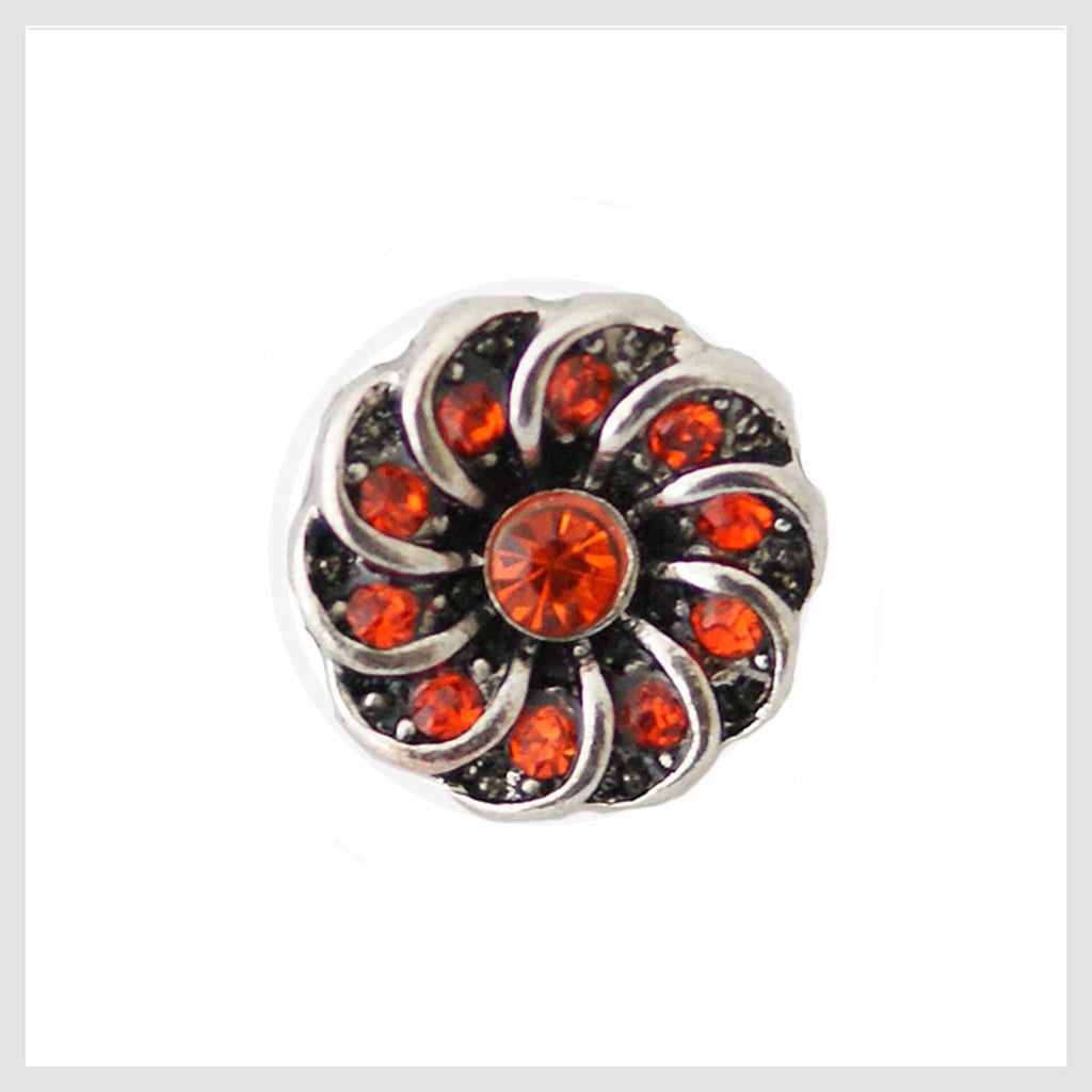 Red Crystal Center Swirl 12mm Mini