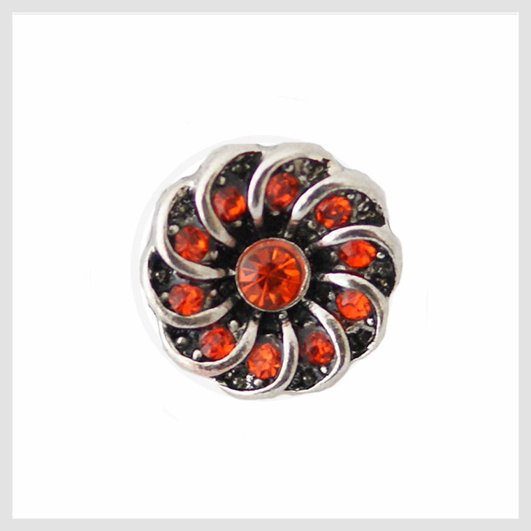 Red Crystal Center Swirl 12mm Mini - Beads and Dangles