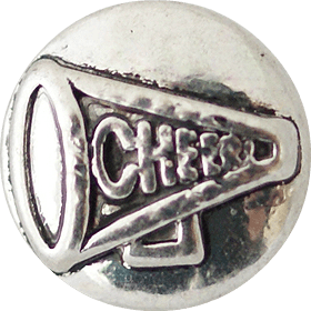 Chunk Snap Charm Petite 12mm Cheer Megaphone - Beads and Dangles
