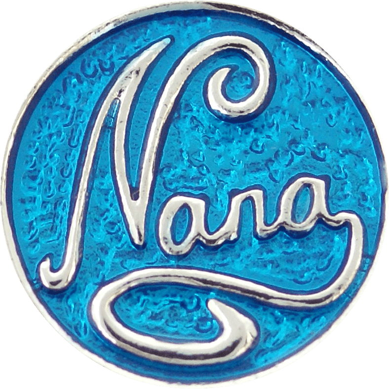 "Chunk Snap Charm Nana 20mm, 3/4"" Diameter - Beads and Dangles"