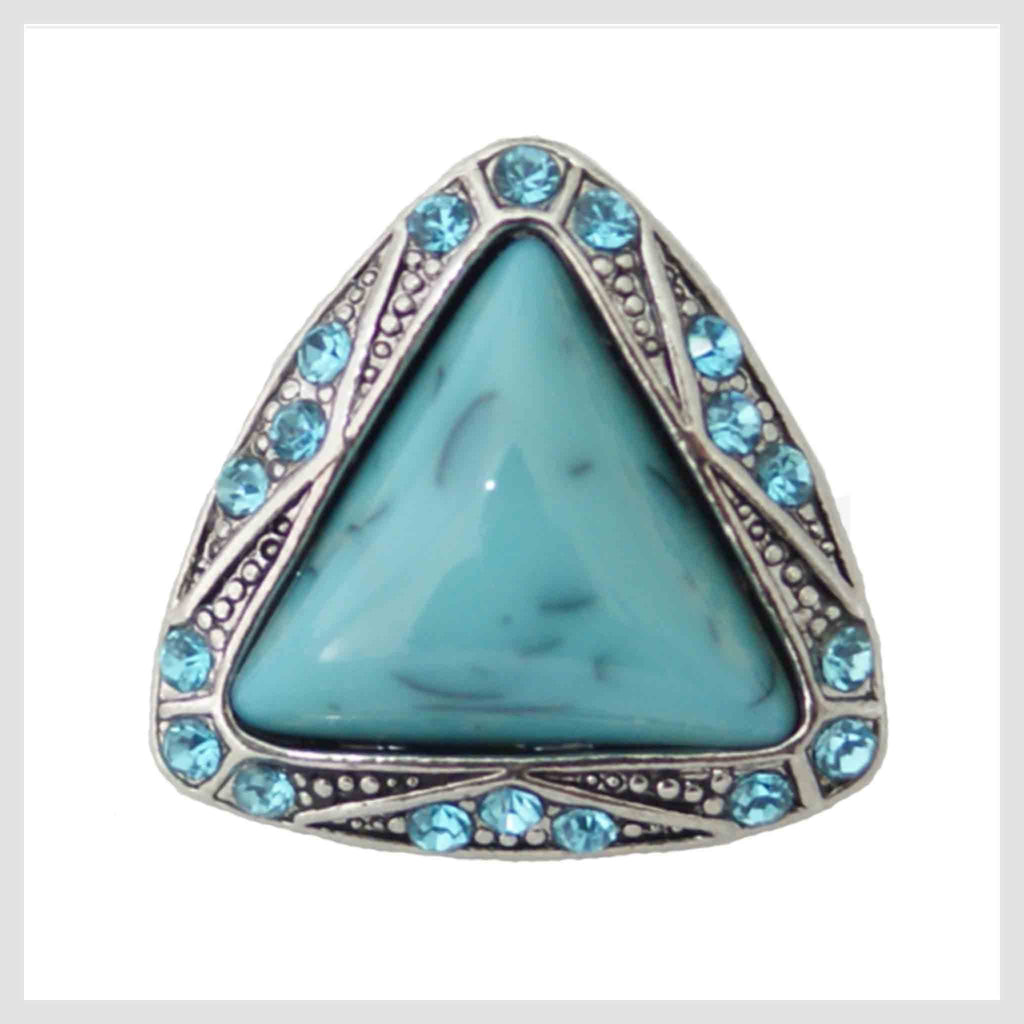 "Turquoise Triangle 20mm 3/4"" - Beads and Dangles"