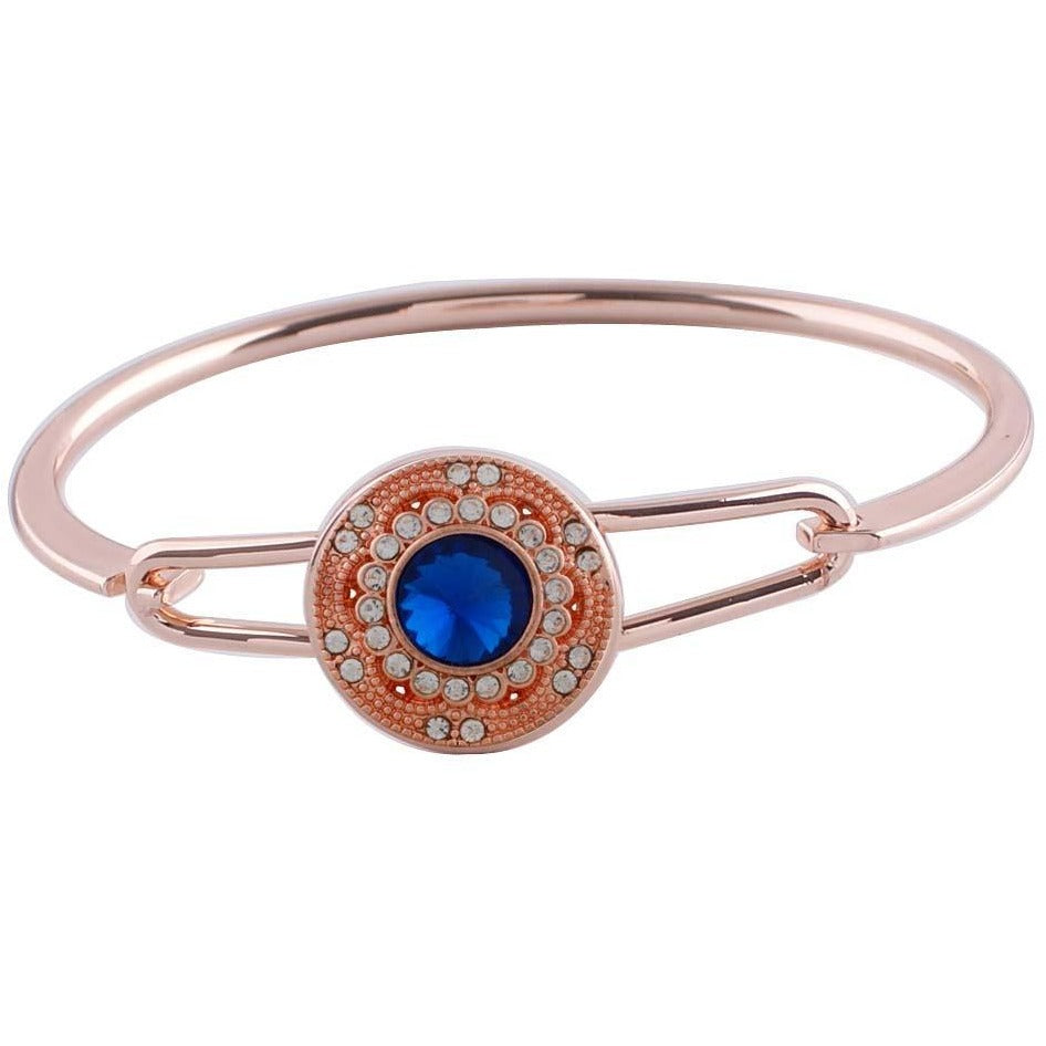 Snap Charm Rose Gold Bangle Bracelet Includes Standard Snap Shown Fits Ginger Snaps - Beads and Dangles