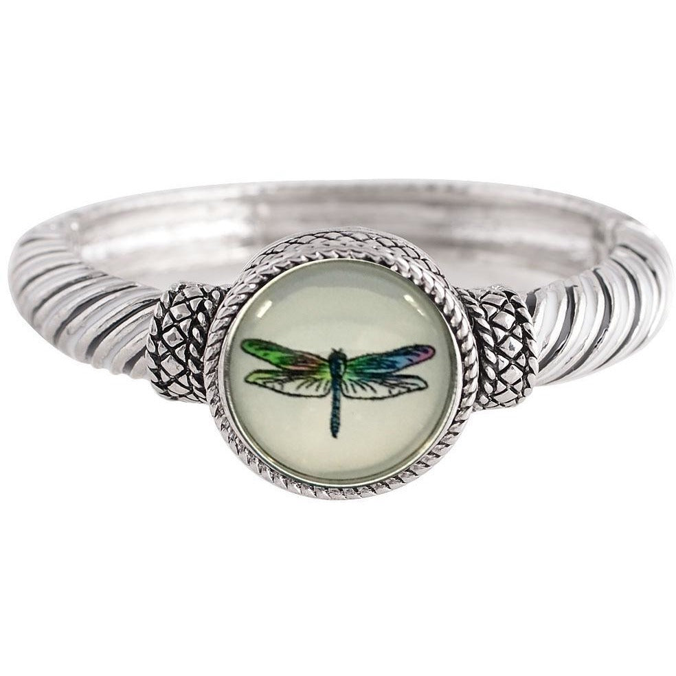 "Hinged Bangle Dragonfly Snap 20mm 3/4"" - Beads and Dangles"