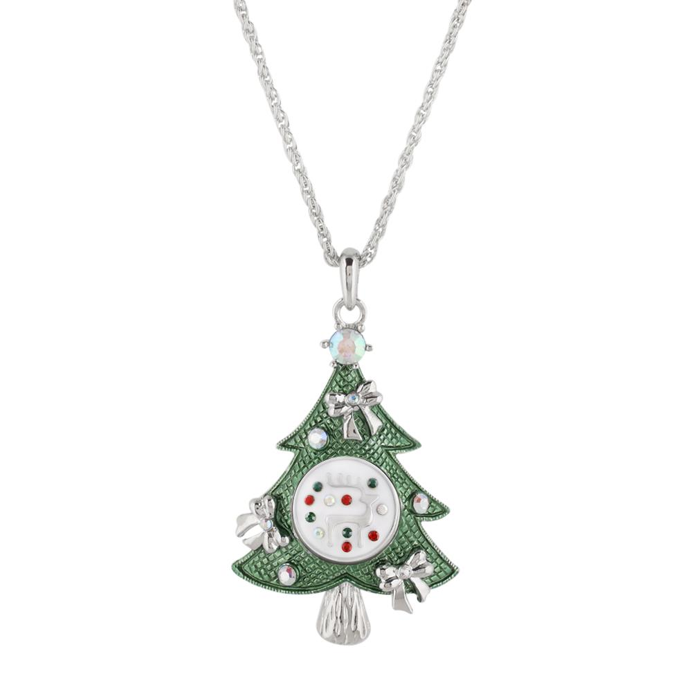 Snap Charm Christmas Tree Large Pendant Necklace Includes Snap Shown - Beads and Dangles