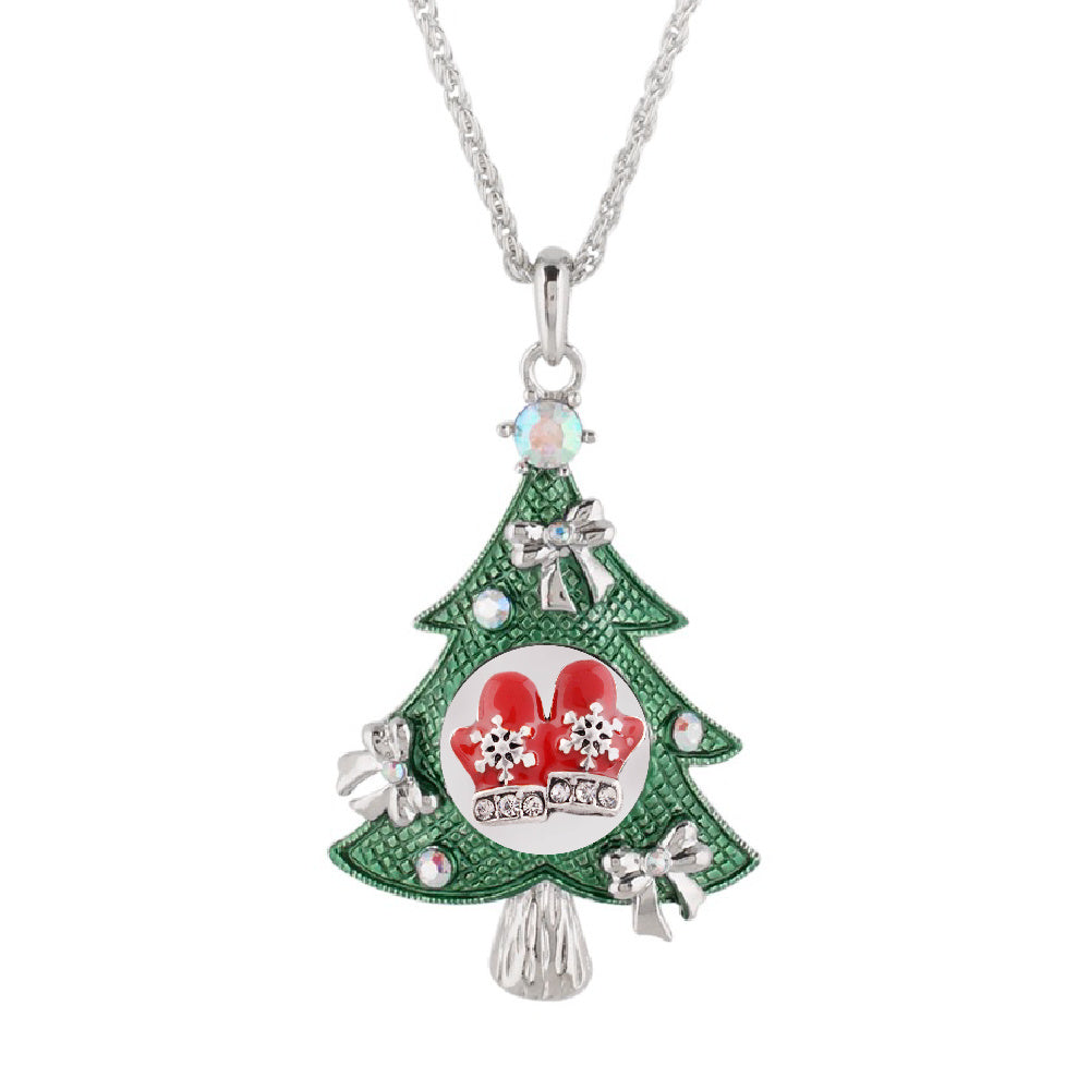 Snap Charm Christmas Tree Large Pendant Necklace Includes Snap Shown