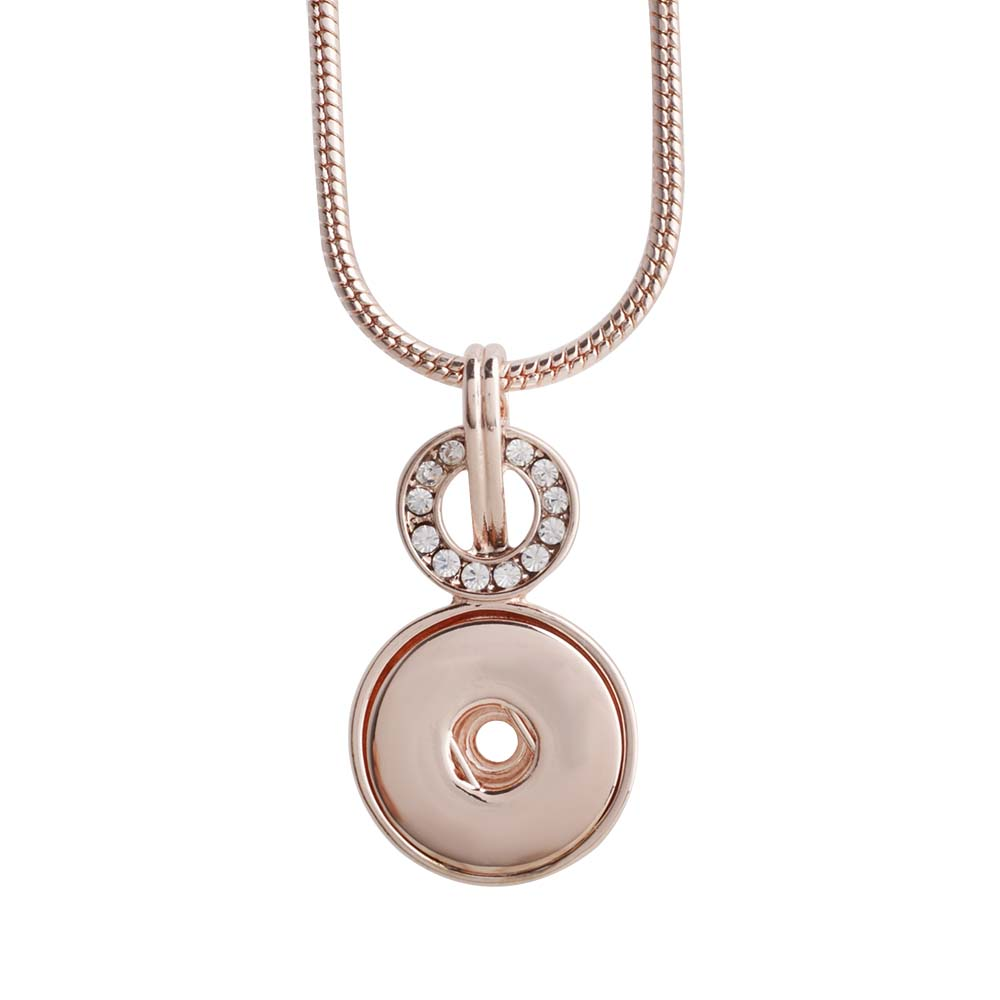 Rose Gold Pendant for Standard Size Snaps - Beads and Dangles