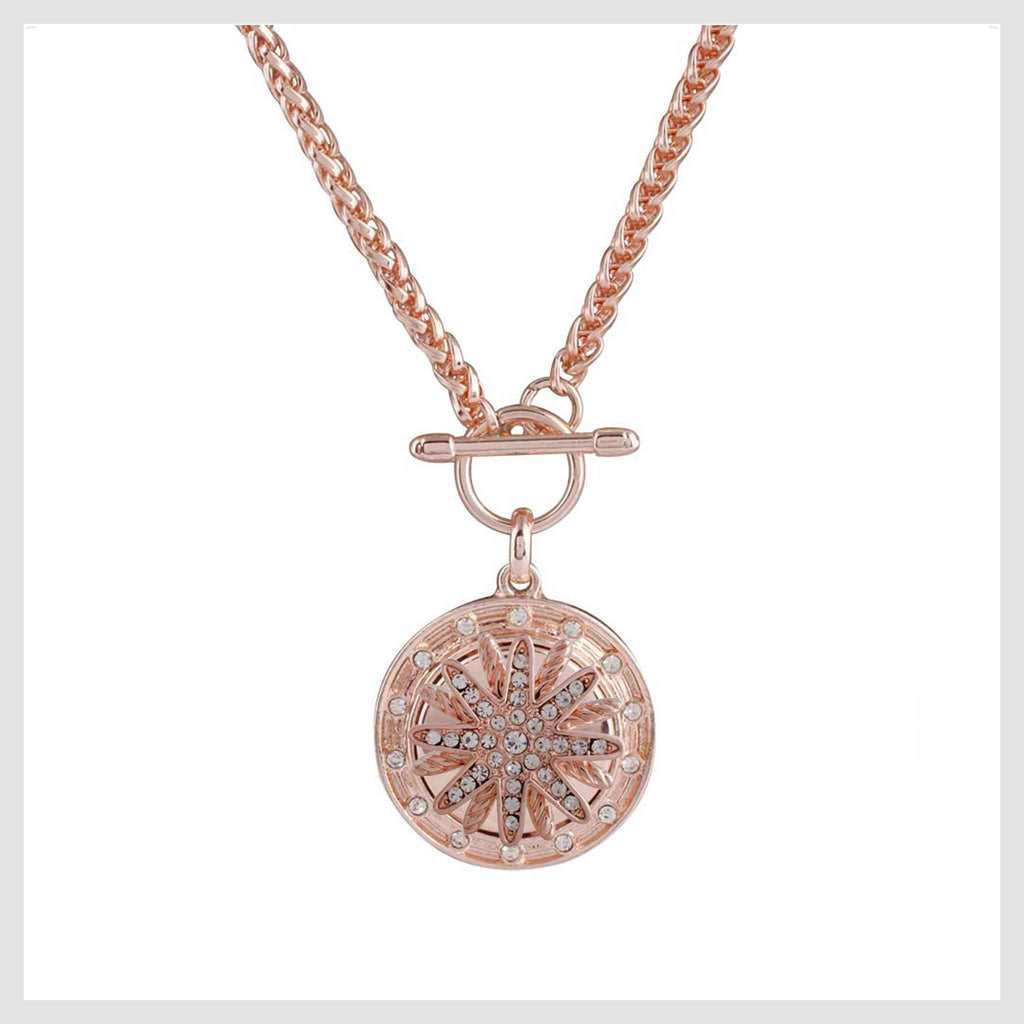 "Rose Gold Pendant 2 Snaps 20mm 3/4"" - Beads and Dangles"