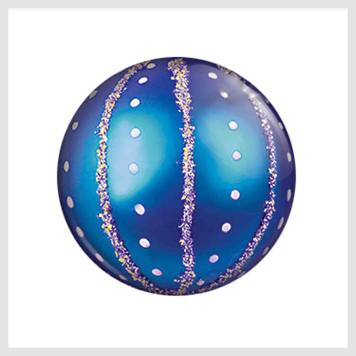 Painted Enamel Christmas Tree Ornament Blue 20mm - Beads and Dangles