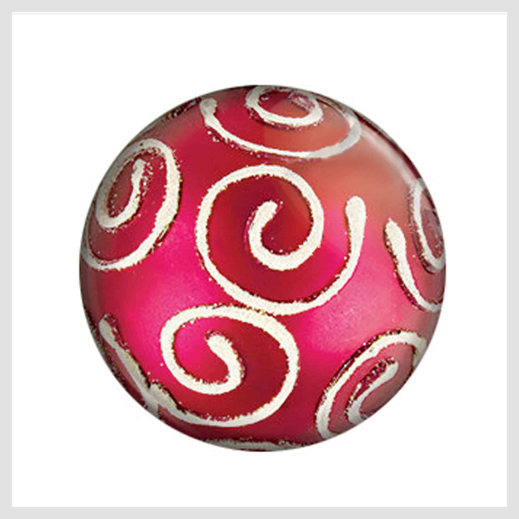 Painted Enamel Christmas Tree Ornament Pink 20mm - Beads and Dangles