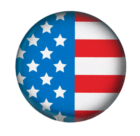 Painted Enamel American Flag 20mm 3/4""