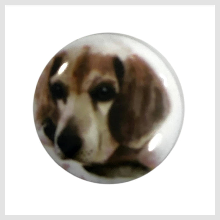 Dog Painted Enamel Beagle 20mm - Beads and Dangles