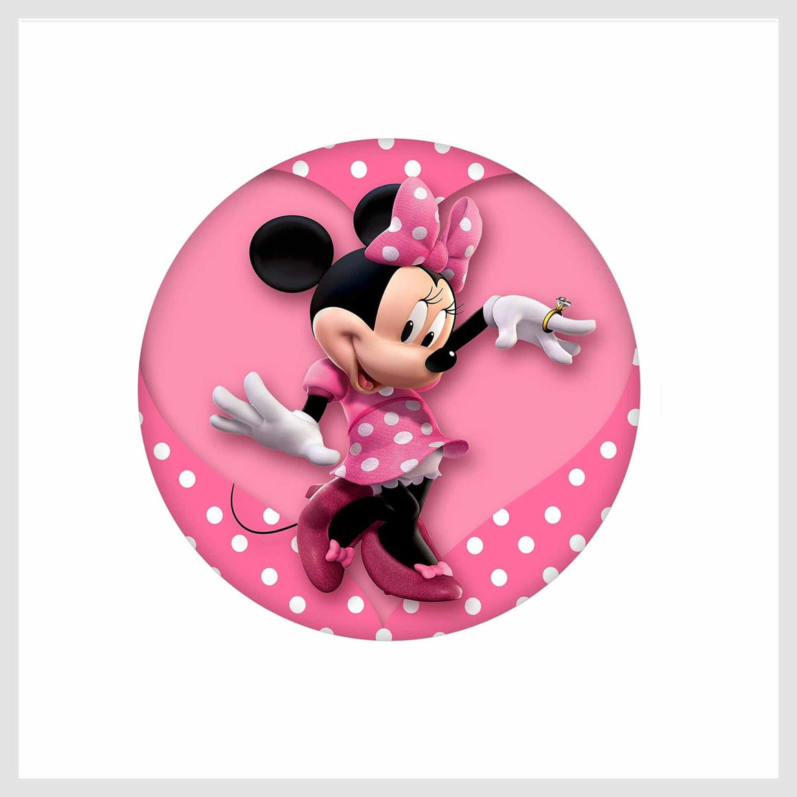Painted Enamel Minnie Mouse 20mm 3/4""