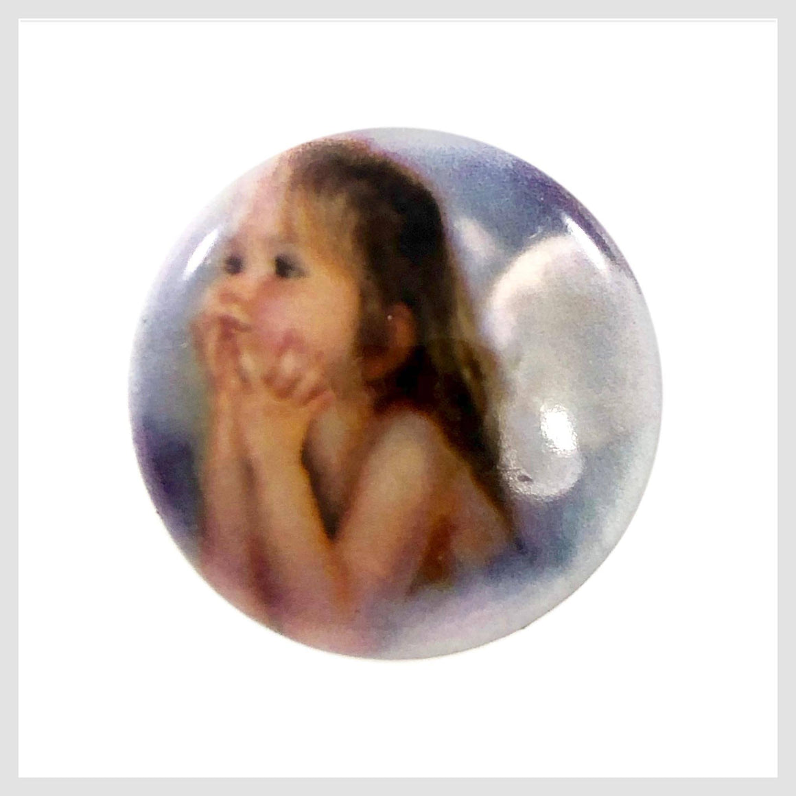 Painted Enamel Little Girl Angel Wings 20mm - Beads and Dangles