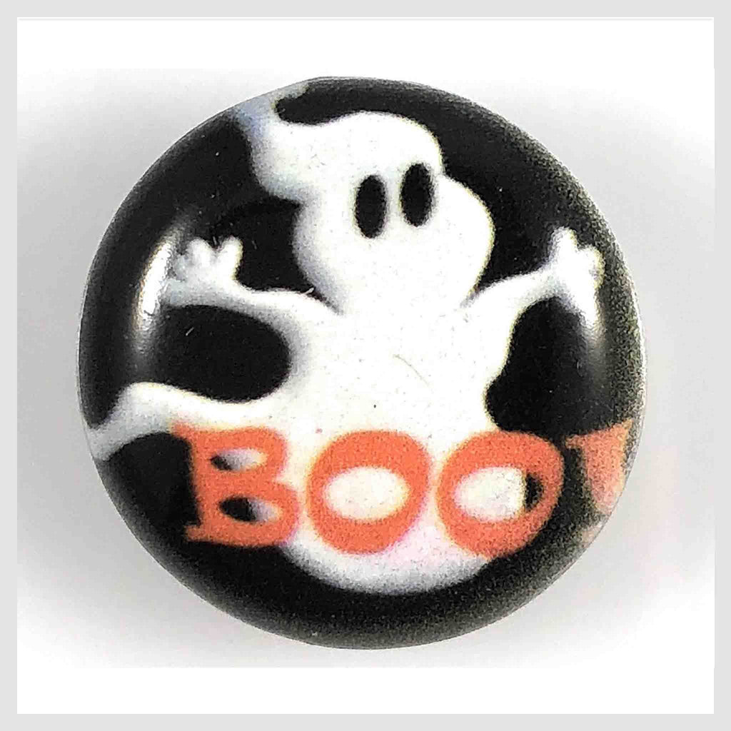 "Painted Enamel Halloween Boo 20mm 3/4"" - Beads and Dangles"