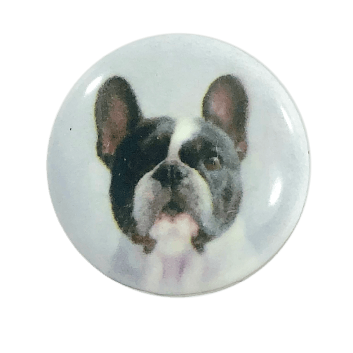 Dog Painted Enamel Boston Terrier-2 20mm - Beads and Dangles