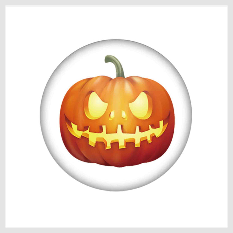 Painted Enamel Halloween Jack-O-Lantern 20mm - Beads and Dangles