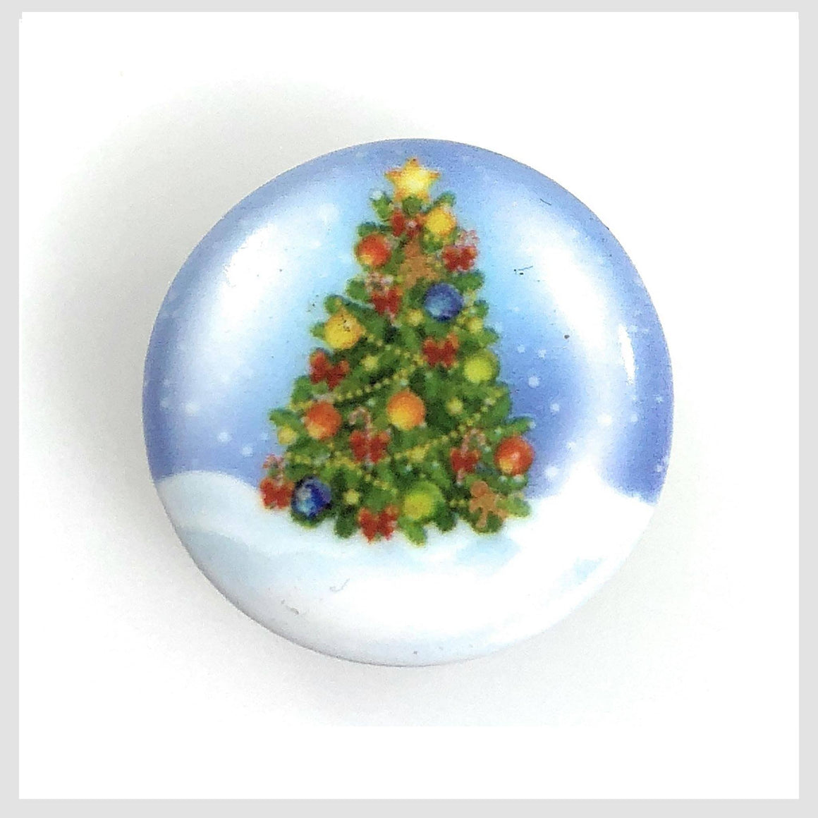 Painted Enamel Christmas Tree 20mm - Beads and Dangles