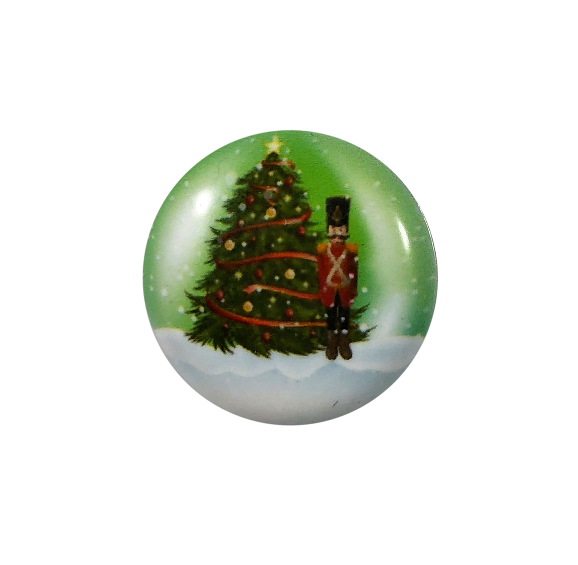 Painted Enamel Christmas Tree Green 20mm