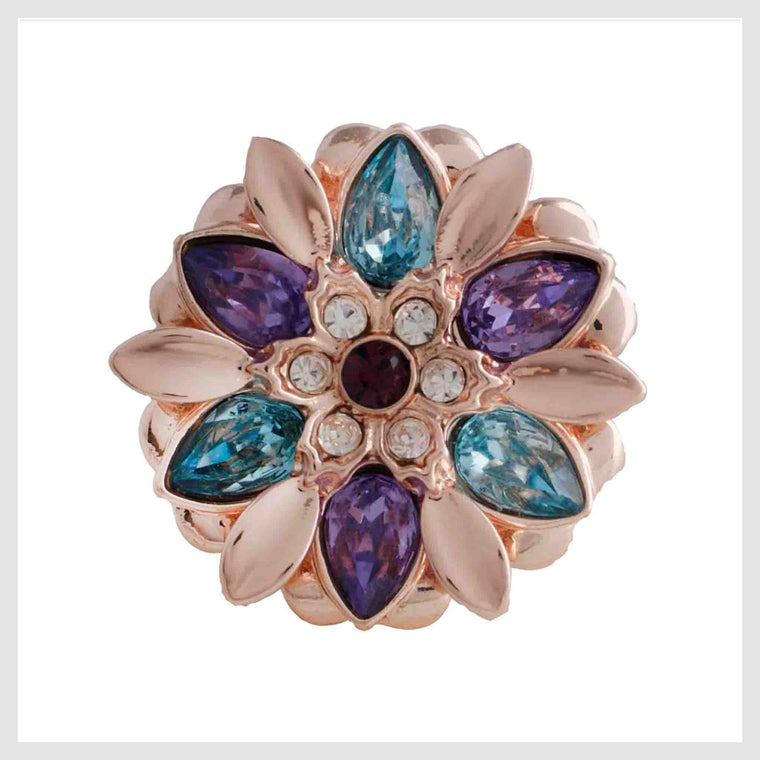 Rose Gold Flower Multicolor 20mm 3/4""