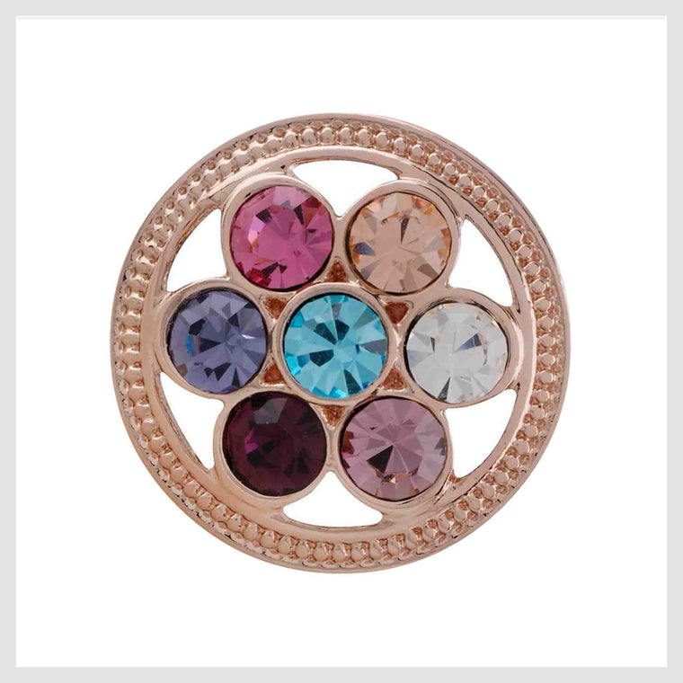 "Rose Gold Multicolor Open Wheel 20mm 3/4"" - Beads and Dangles"