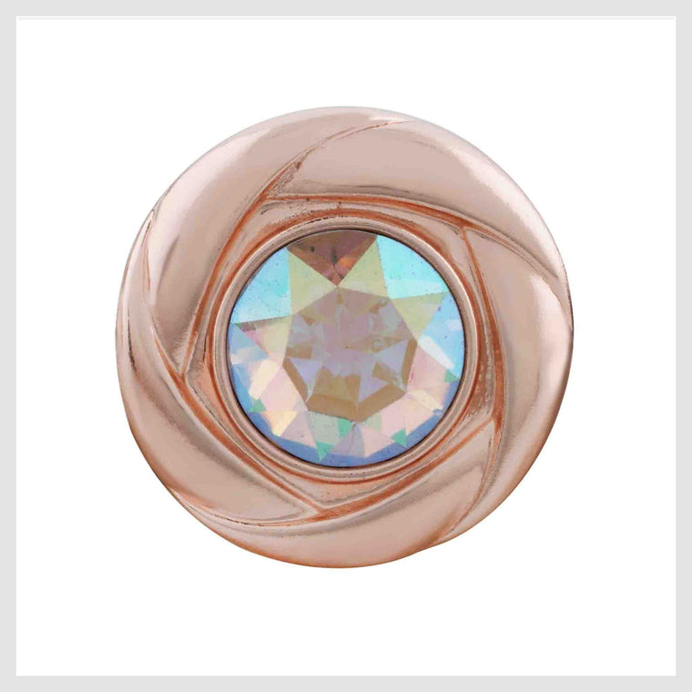Rose Gold Clear Faceted Stone 20mm 3/4""
