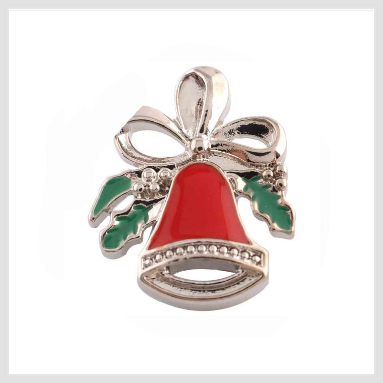 "Christmas Bell Mistletoe 20mm 3/4"" - Beads and Dangles"