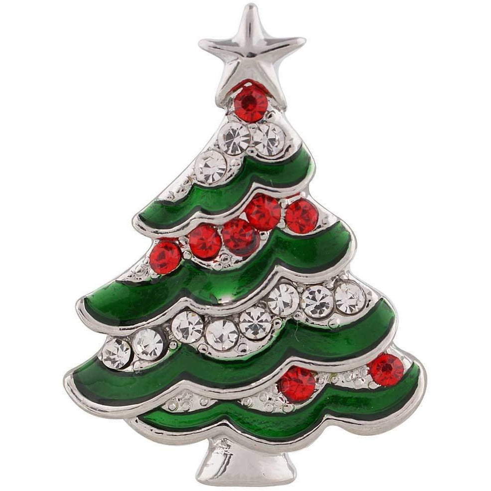 "Christmas Tree Red Green 20mm 3/4"" - Beads and Dangles"