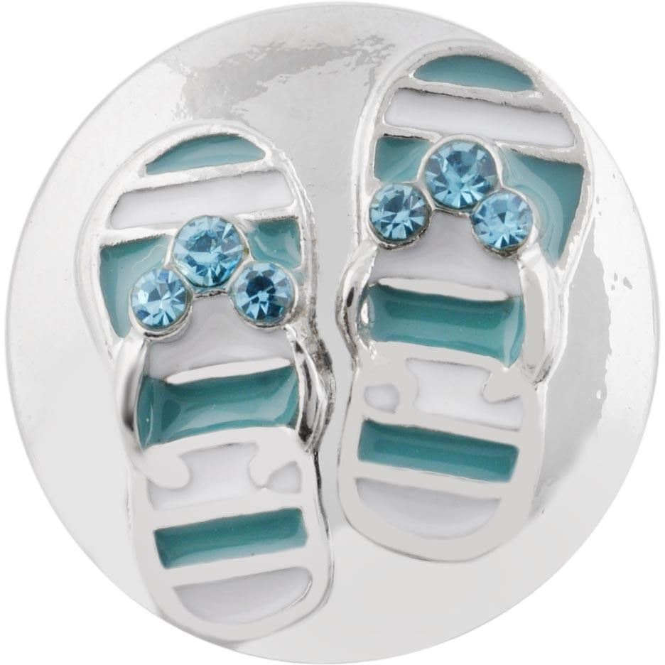 "Flip Flop Sandals Turquoise 20mm 3/4"" - Beads and Dangles"