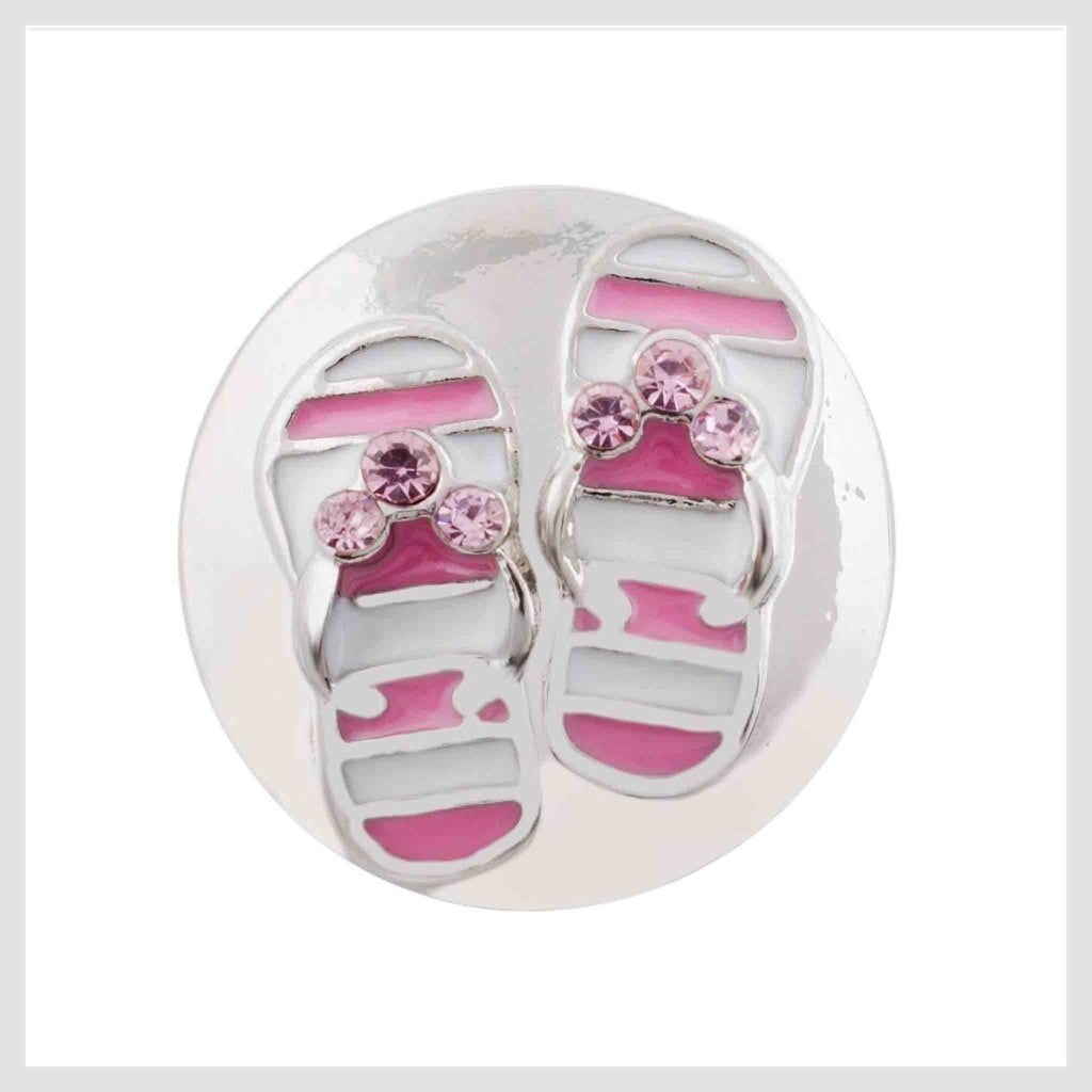 "Flip Flop Sandals Pink 20mm 3/4"" - Beads and Dangles"