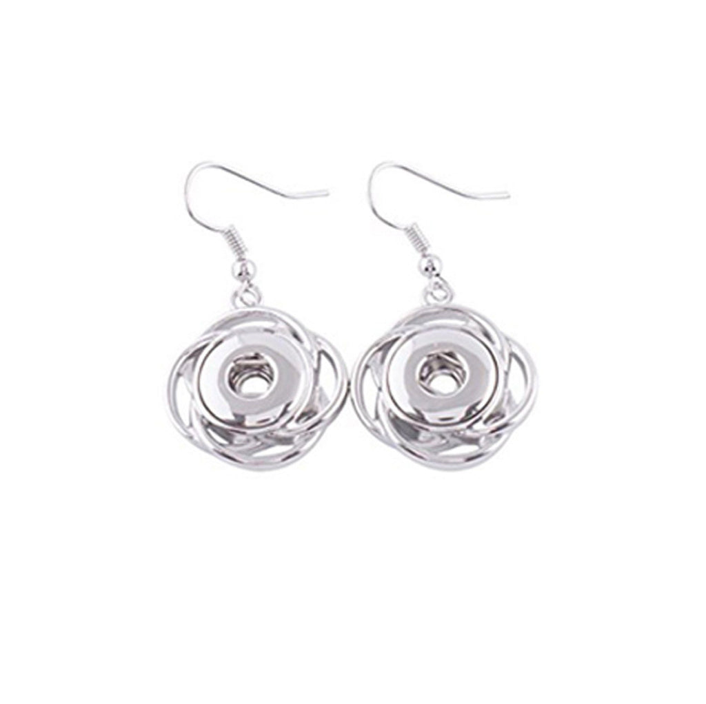 Drop Earrings for Mini 12 mm Includes Snaps Shown (SET-1) - Beads and Dangles