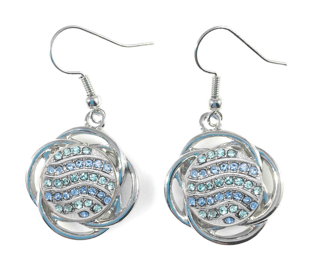 Drop Earrings for Mini 12 mm Includes Snaps Shown (SET-2-B-G) - Beads and Dangles