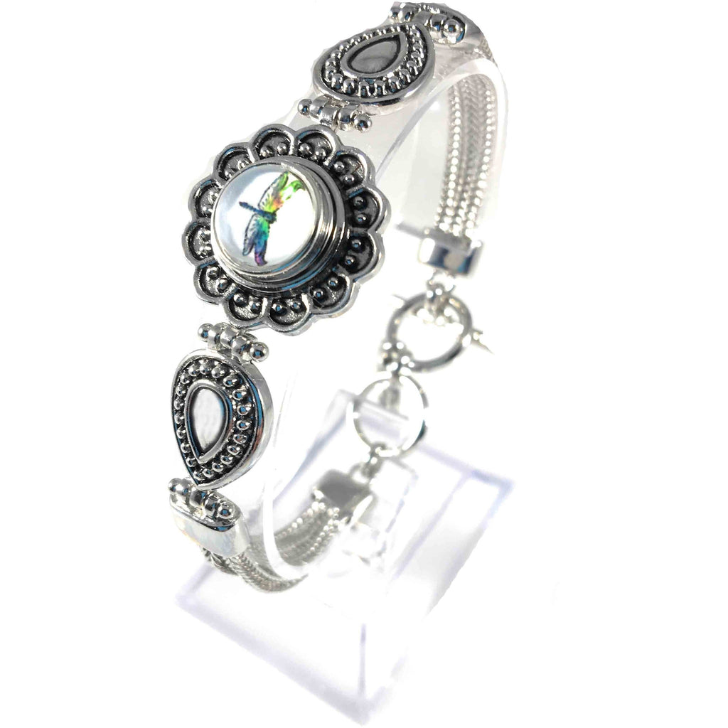 Bracelet Mini 12mm Includes Dragonfly Snap - Beads and Dangles