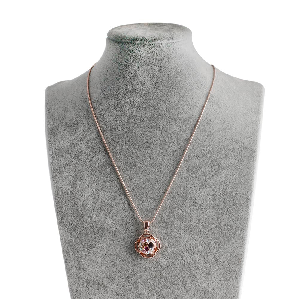 Rose Gold Pendant Includes 1 Snap 12mm Mini