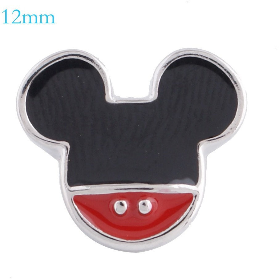 Mickey Mouse Shape Mini 12mm - Beads and Dangles