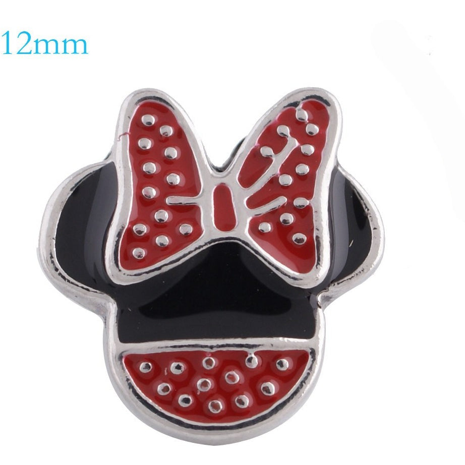 Minnie Mouse Shape Mini 12mm - Beads and Dangles