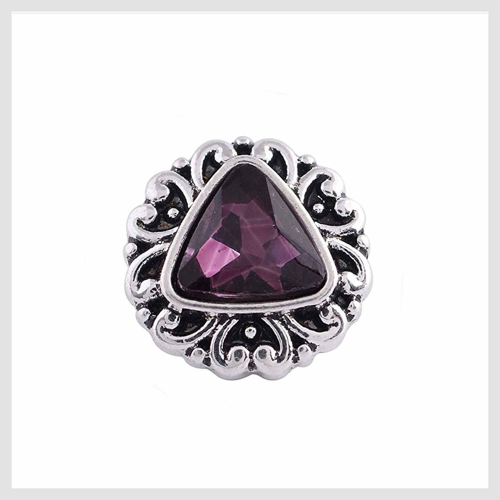Purple Triangle Center 12mm Mini