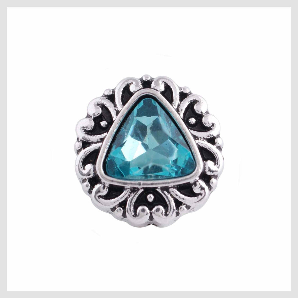 Turquoise Triangle Center 12mm Mini