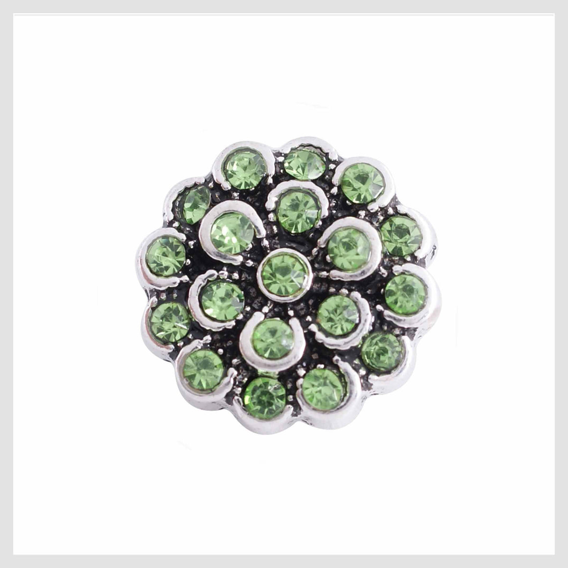 Peridot Flower Rhinestones 12mm Mini - Beads and Dangles