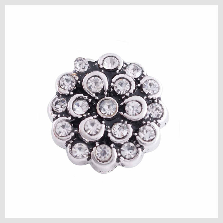 Clear Flower Rhinestones 12mm Mini - Beads and Dangles