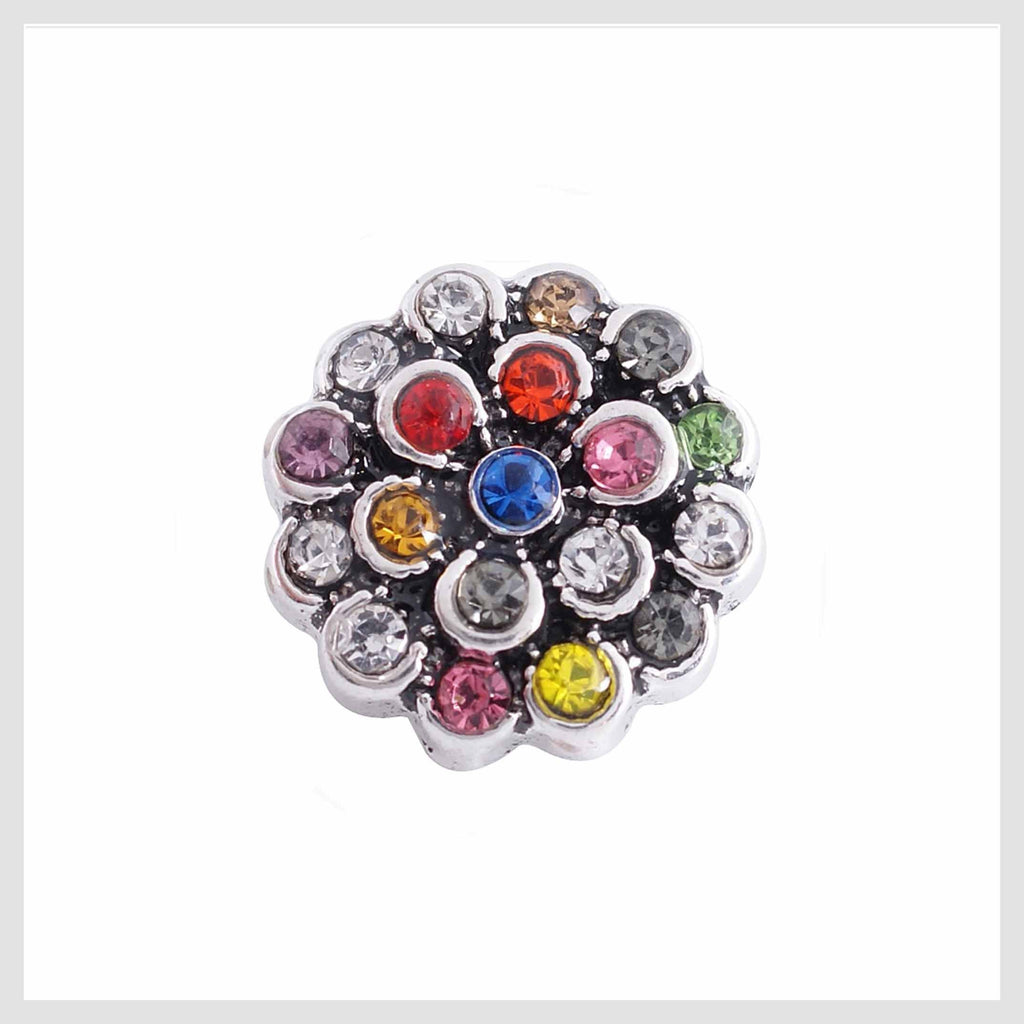 Multicolor Flower Rhinestones 12mm Mini - Beads and Dangles