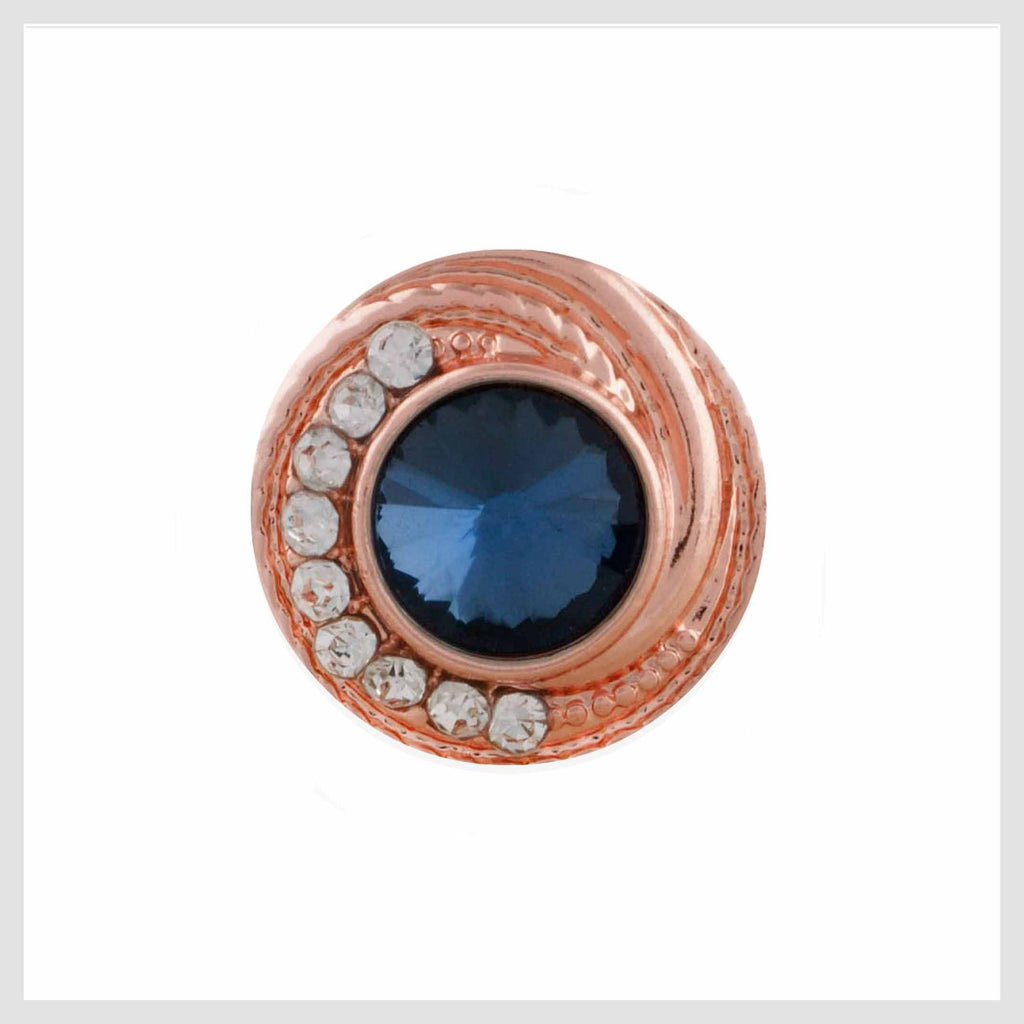 Rose Gold Blue and Clear 12mm Mini