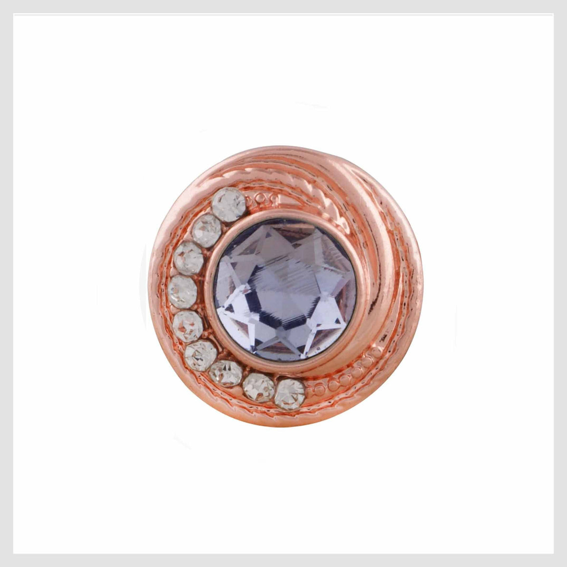 Rose Gold Purple and Clear 12mm Mini