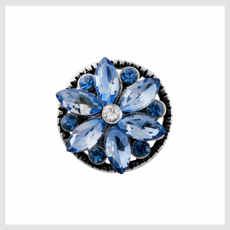 Blue Pinwheel Crystals 12mm Mini - Beads and Dangles