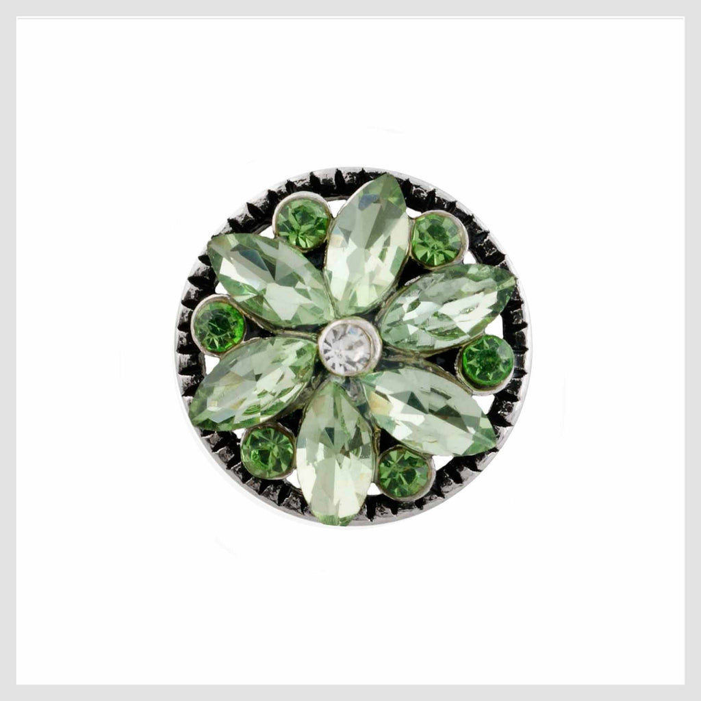 Peridot Pinwheel Crystals 12mm Mini - Beads and Dangles