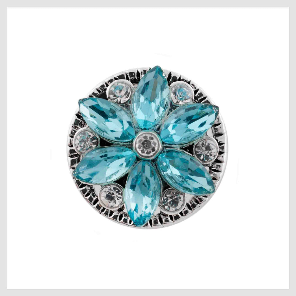 Pinwheel Crystals Turquoise 12mm Mini - Beads and Dangles