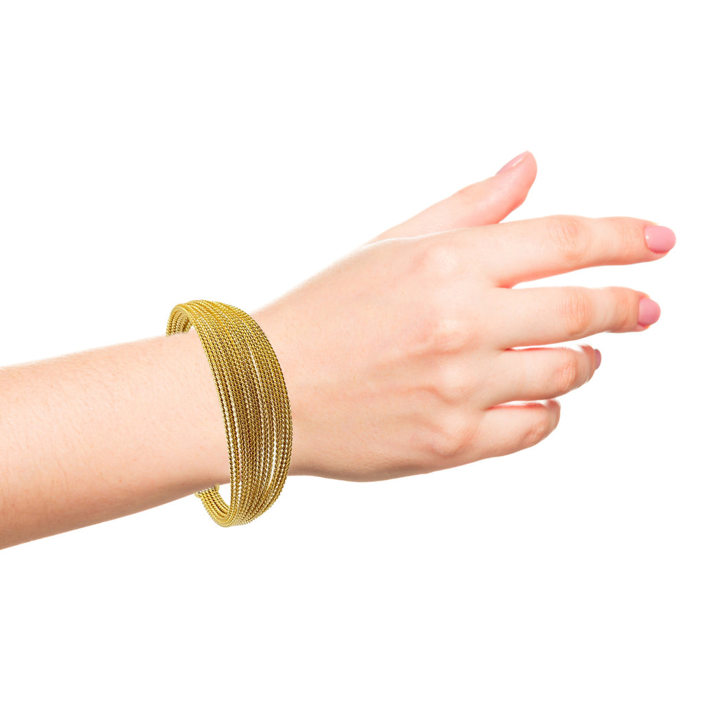 Stainless Steel Cuff Bracelet Gold Plated