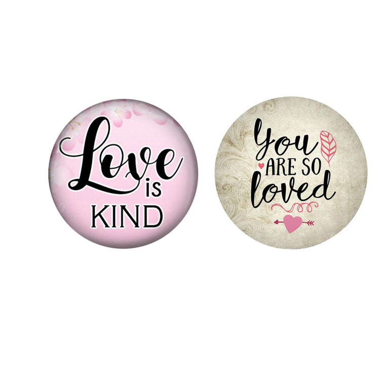 "Painted Enamel Love is Kind You Are So Loved 20mm 3/4"" - Beads and Dangles"